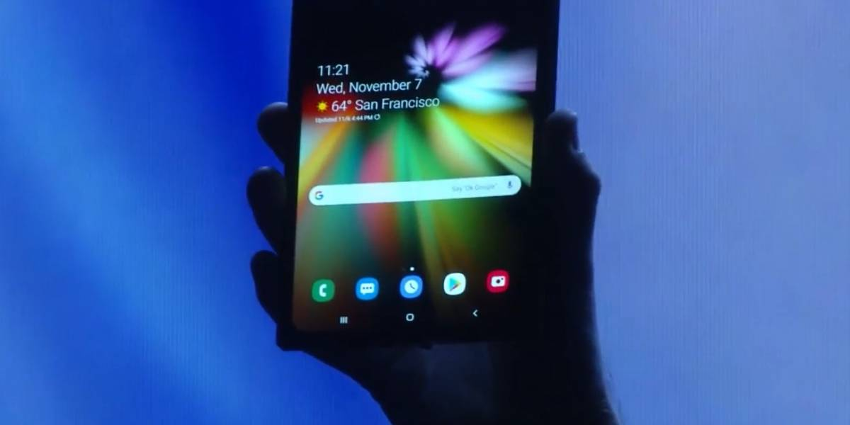 Samsung presentó revolucionario teléfono plegable