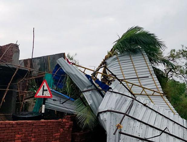 Ciclón Gajo tocó tierra y acabó con la vida de 11 personas en la India