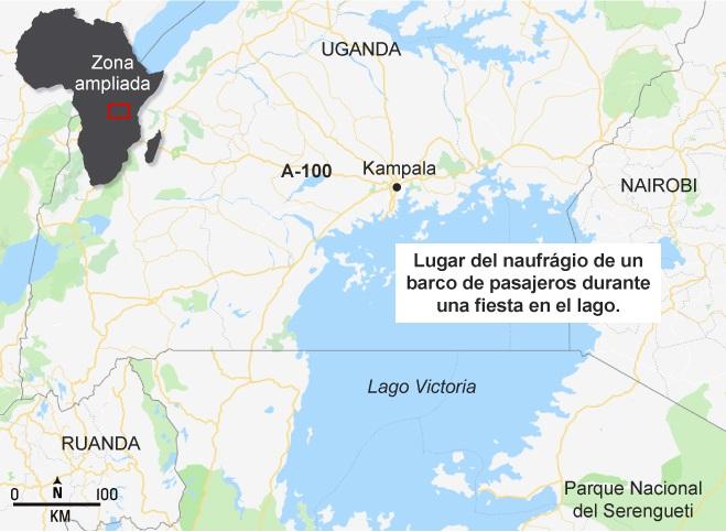 Al menos 225 fallecidos en el naufragio de un ferri en Tanzania