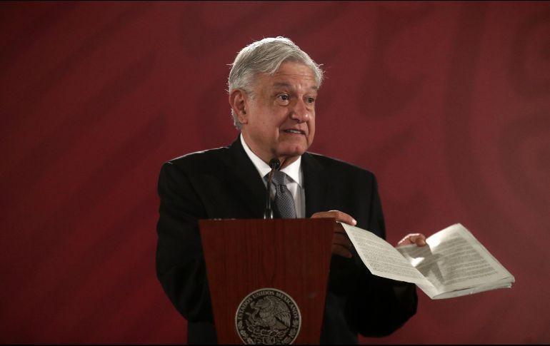 López Obrador anunció un presupuesto austero para México en 2019