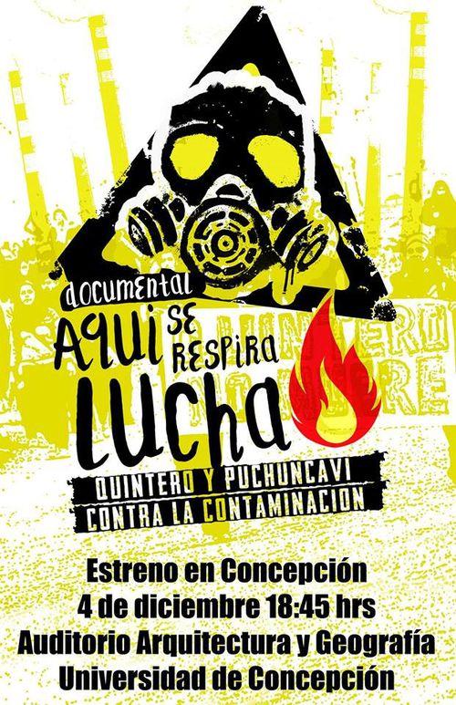 """""""Aquí se respira lucha"""": Documental sobre crisis socioambiental en Quintero-Puchuncaví se estrenará en Concepción"""