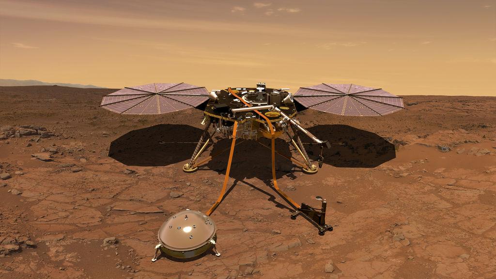 (Foto) El aterrizador InSight fue capturado desde la atmósfera de Marte