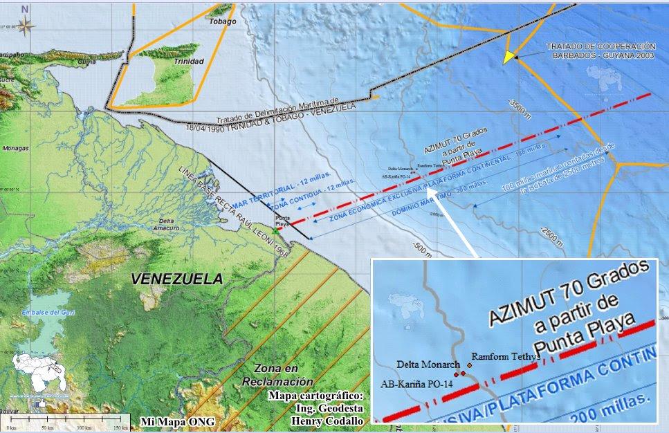 ONG respalda a Venezuela en acciones de reguardo del mar territorial transgredido por la Exxon Mobil