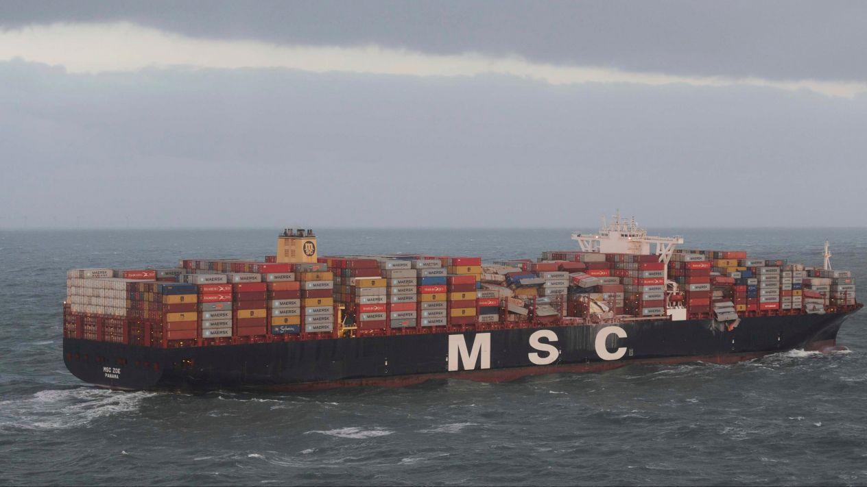 Barco holandés pierde contenedores con sustancias tóxicas