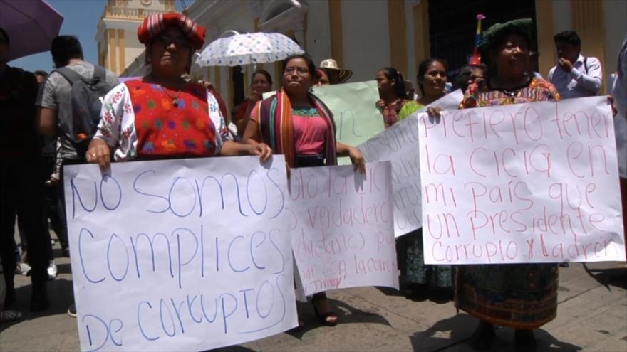 (Video) Indígenas y campesinos de Guatemala se unen contra Jimmy Morales