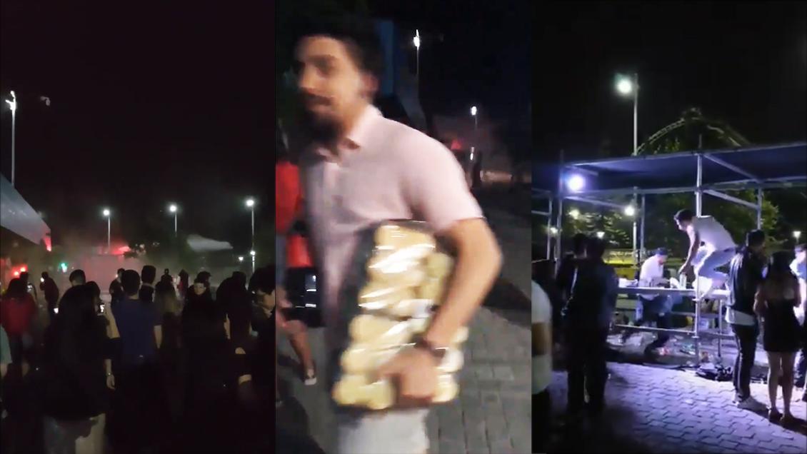 Saquearon hasta la barra: Denuncian serios incidentes en fiesta de Año Nuevo en el Movistar Arena