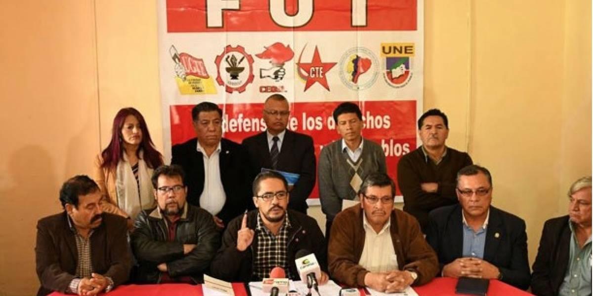 (Video) Frente Unitario de Trabajadores llaman a una marcha contra el gobierno de Lenín Moreno
