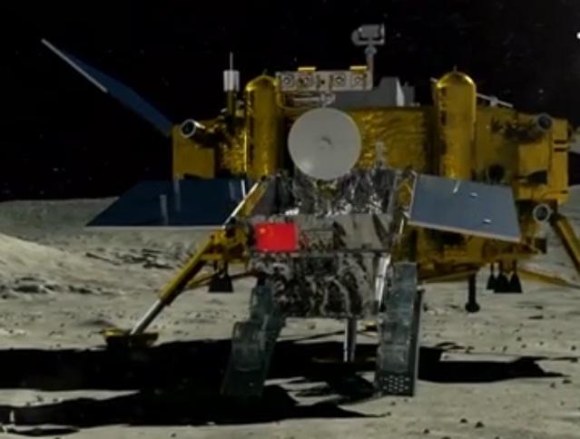 """(Vídeo) Programa espacial chino logró llegar a la """"cara oculta de la Luna"""""""