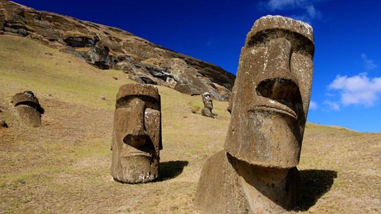 Investigación revela el misterio de la ubicación de los moáis