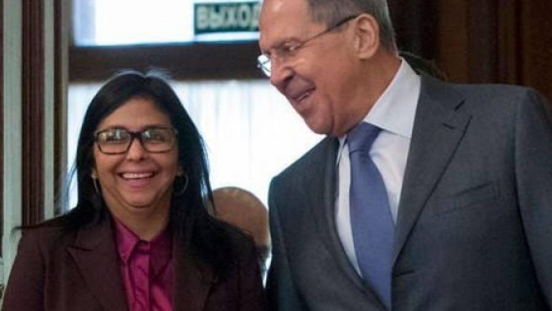 Vicepresidenta venezolana y Canciller ruso se reunirán ante amenazas de EE. UU.