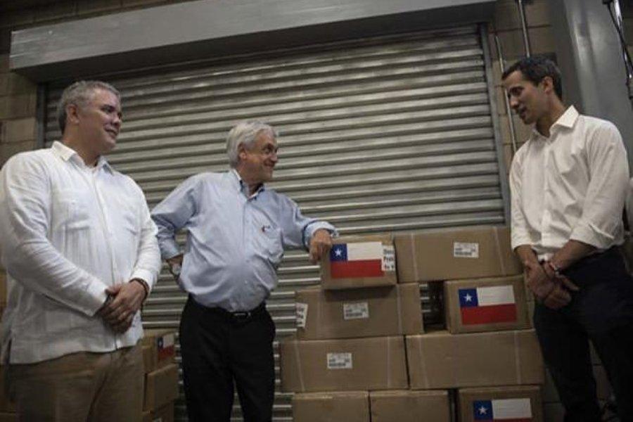 Duque, Piñera, Guaidó y Almagro se reúnen para ejecutar el montaje humanitario