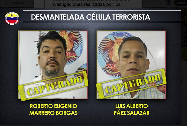 """Desmantelan """"célula terrorista"""" que pretendía actuar en Venezuela"""