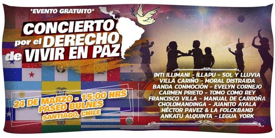 """Concierto """"Por el derecho de vivir en paz"""" alza la voz por la autodeterminación de los pueblos"""