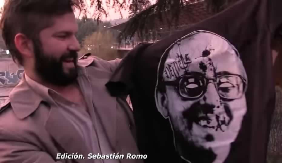 Comisión de Ética sancionó a Gabriel Boric por posar con polera de Jaime Guzmán baleado