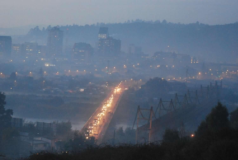 Estudio indica que 9 de las 10 ciudades más contaminadas de Sudamérica son chilenas