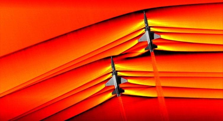La NASA capta sofisticadas imágenes de ondas de choque supersónicas