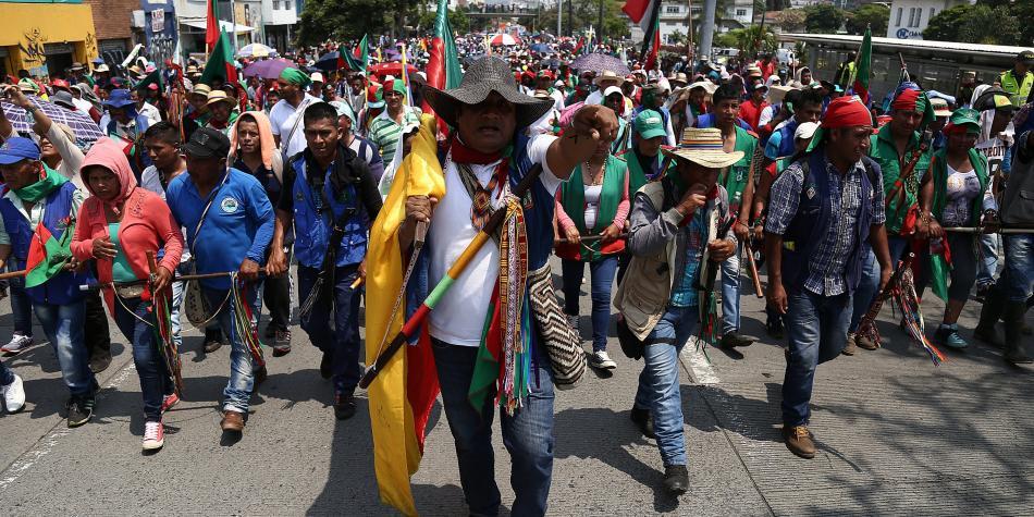 Indígenas del Cauca exigen a Iván Duque respeto a sus derechos