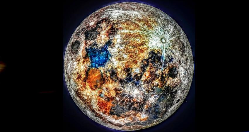 Un fotógrafo deslumbra al mundo con imágenes de la Luna en color