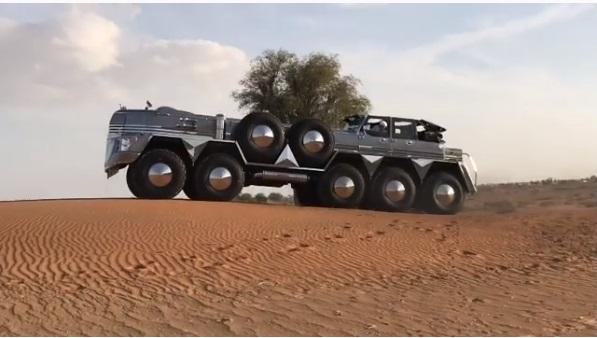 (Vídeo) El jeque de Dubai construyó el SUV más grande del mundo