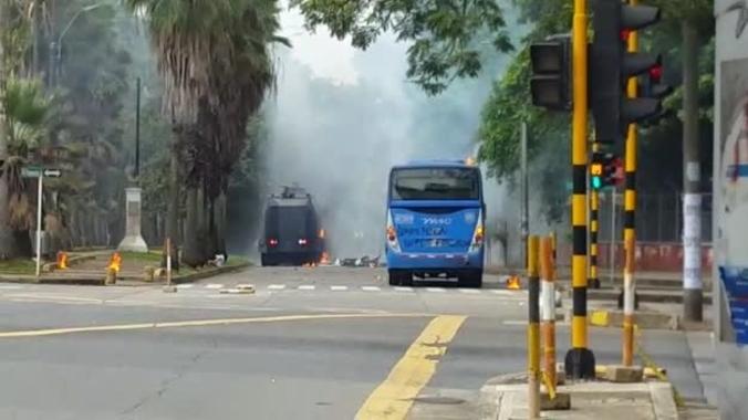 (Video) Un muerto deja protesta estudiantil en Colombia