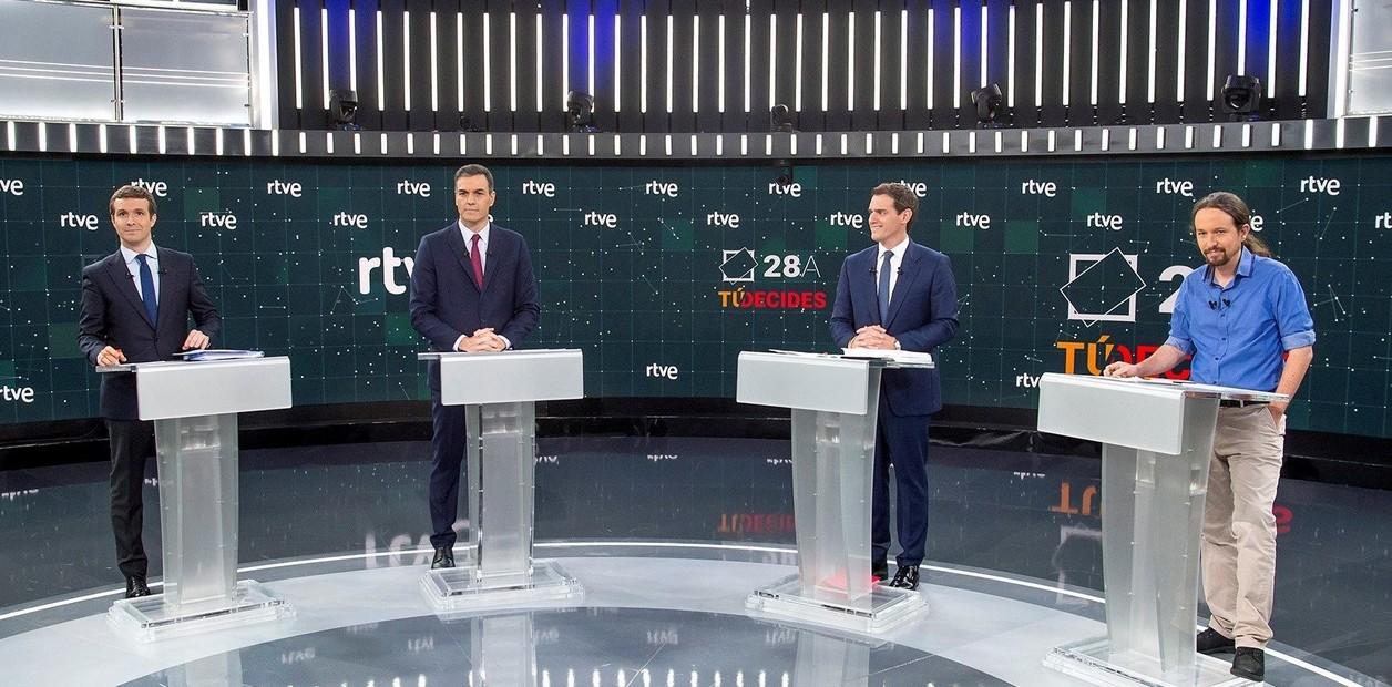 España: cuatro candidatos presidenciales se enfrentan en un tenso debate