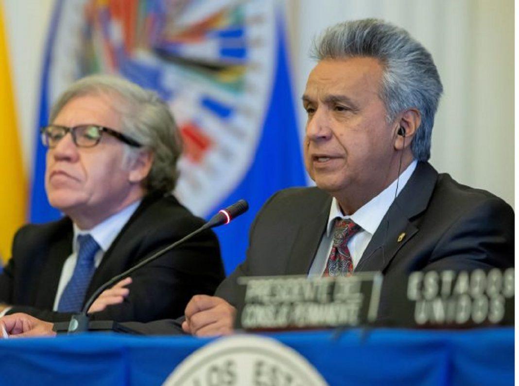 Lenín Moreno llama a intervenir Venezuela y Nicaragua con la Doctrina Roldós