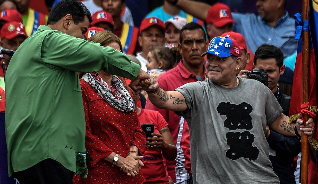 Maradona Nicolás Maduro