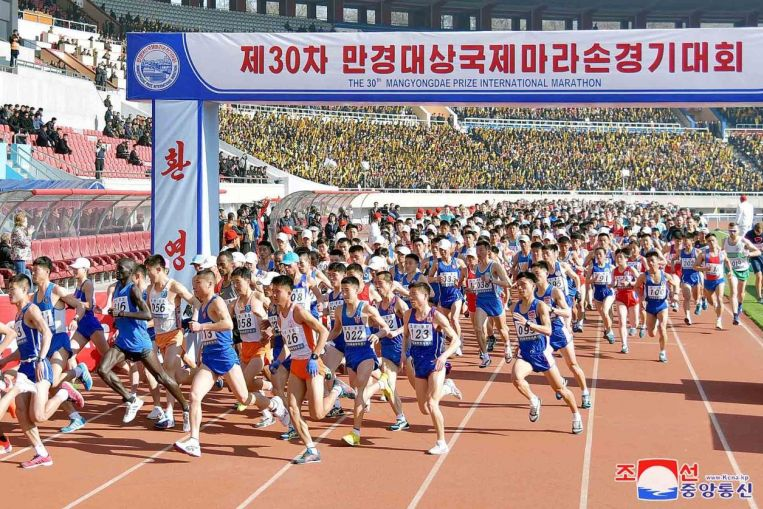 Norcorea ganó el XXX Maratón Internacional de Pyongyang
