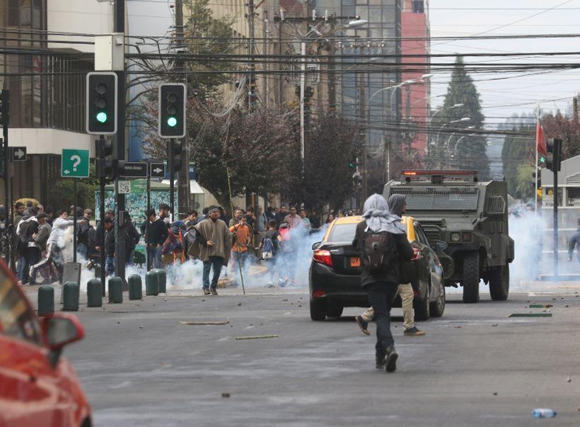 Temuco: Justicia acoge amparo por represión de Carabineros a marcha mapuche
