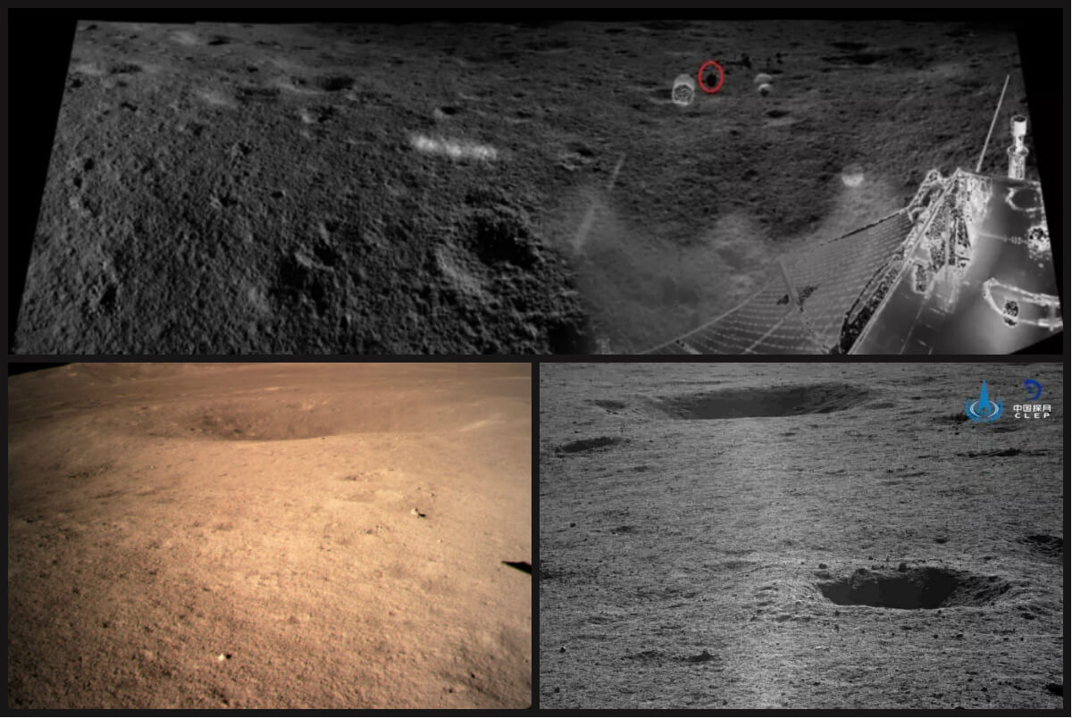 China revela nuevas imágenes del lado oscuro de la Luna
