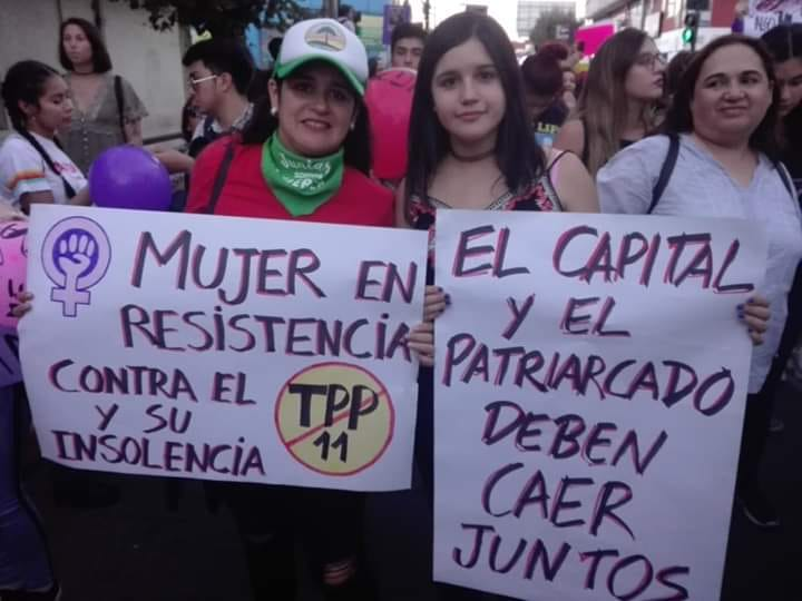 Mujeres trabajadoras contra el TPP-11
