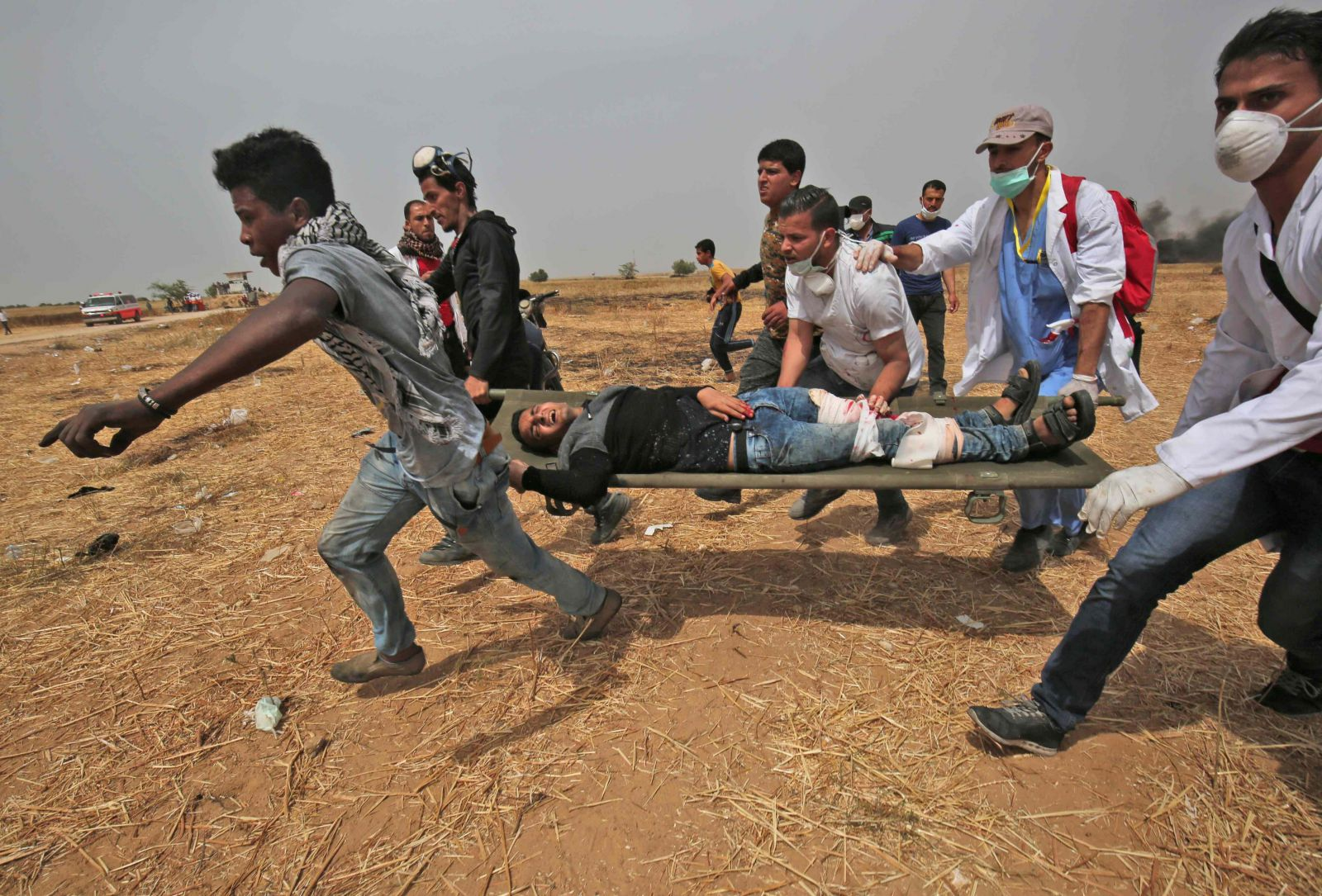 Israel agrede a palestinos que protestaban en la Franja de Gaza