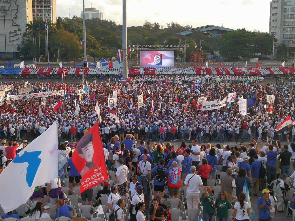 Ante la agresión, trabajadores cubanos marcharon más unidos que nunca
