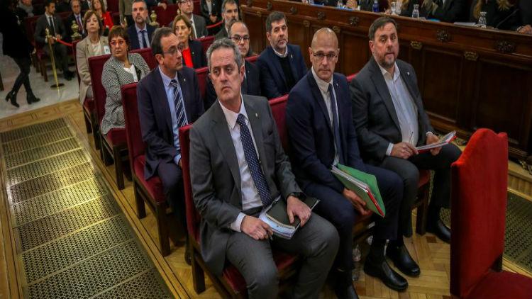 La Fiscalía española mantendrá acusación de rebelión contra los líderes independentistas