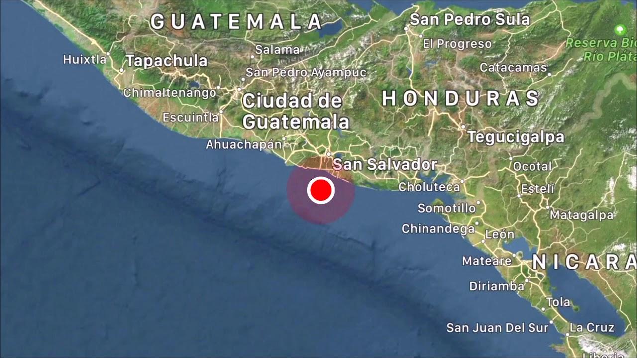Alerta de tsunami en El Salvador tras sismo de magnitud de 6,8
