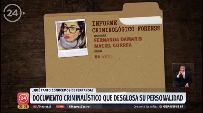 """""""Tu misoginia mata"""": Repudio a publicación de informe psicológico de Fernanda Maciel en TVN"""