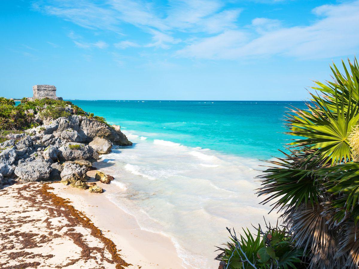 Tulum, ciudad maya a orillas del mar, enfrenta la invasión del sargazo