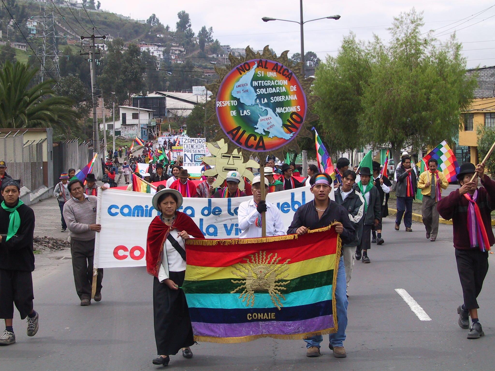 Confederación de Nacionalidades Indígenas del Ecuador condena la violencia en Colombia