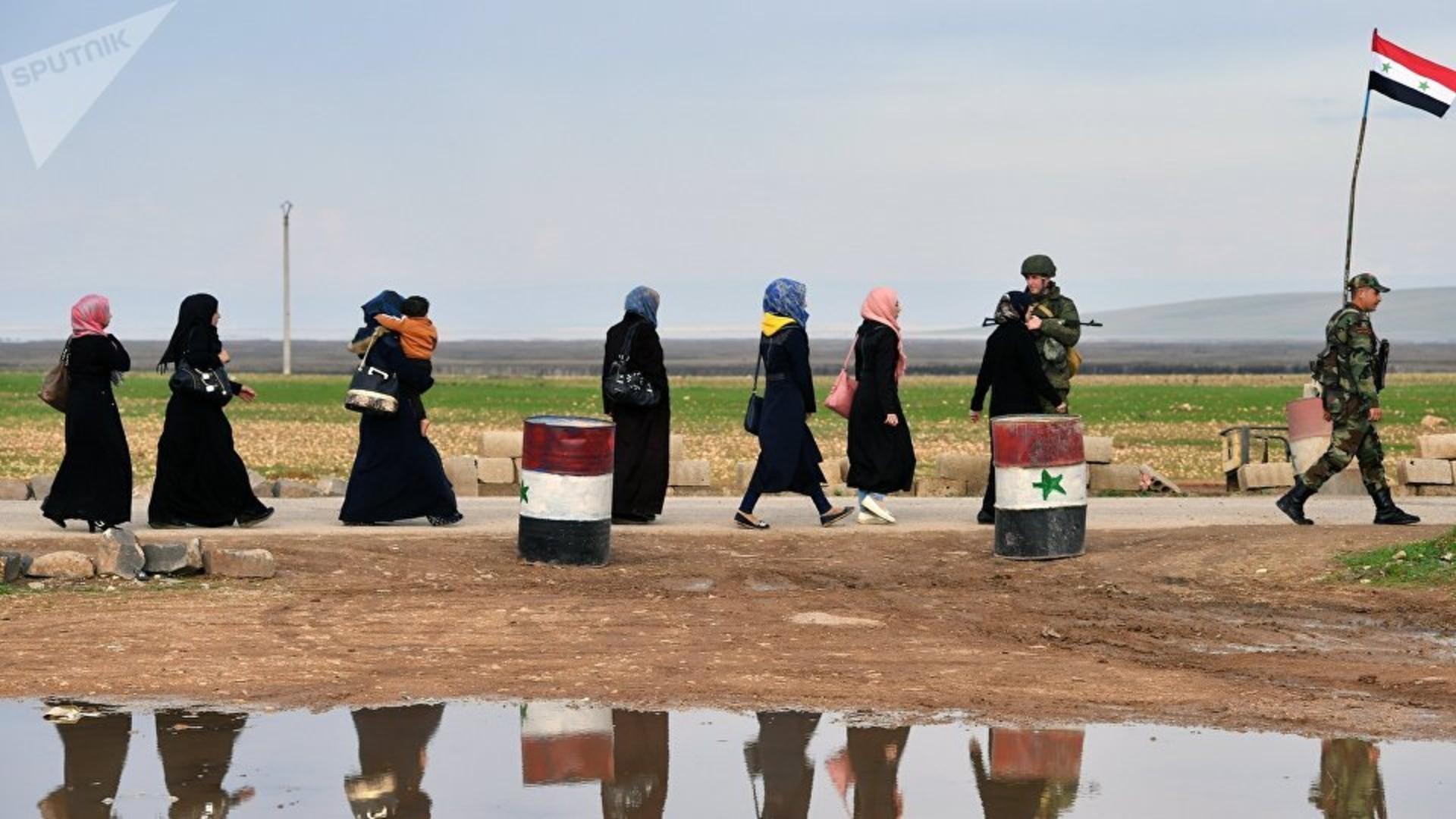 En Siria abren un corredor humanitario para los civiles que buscan huir de Idlib