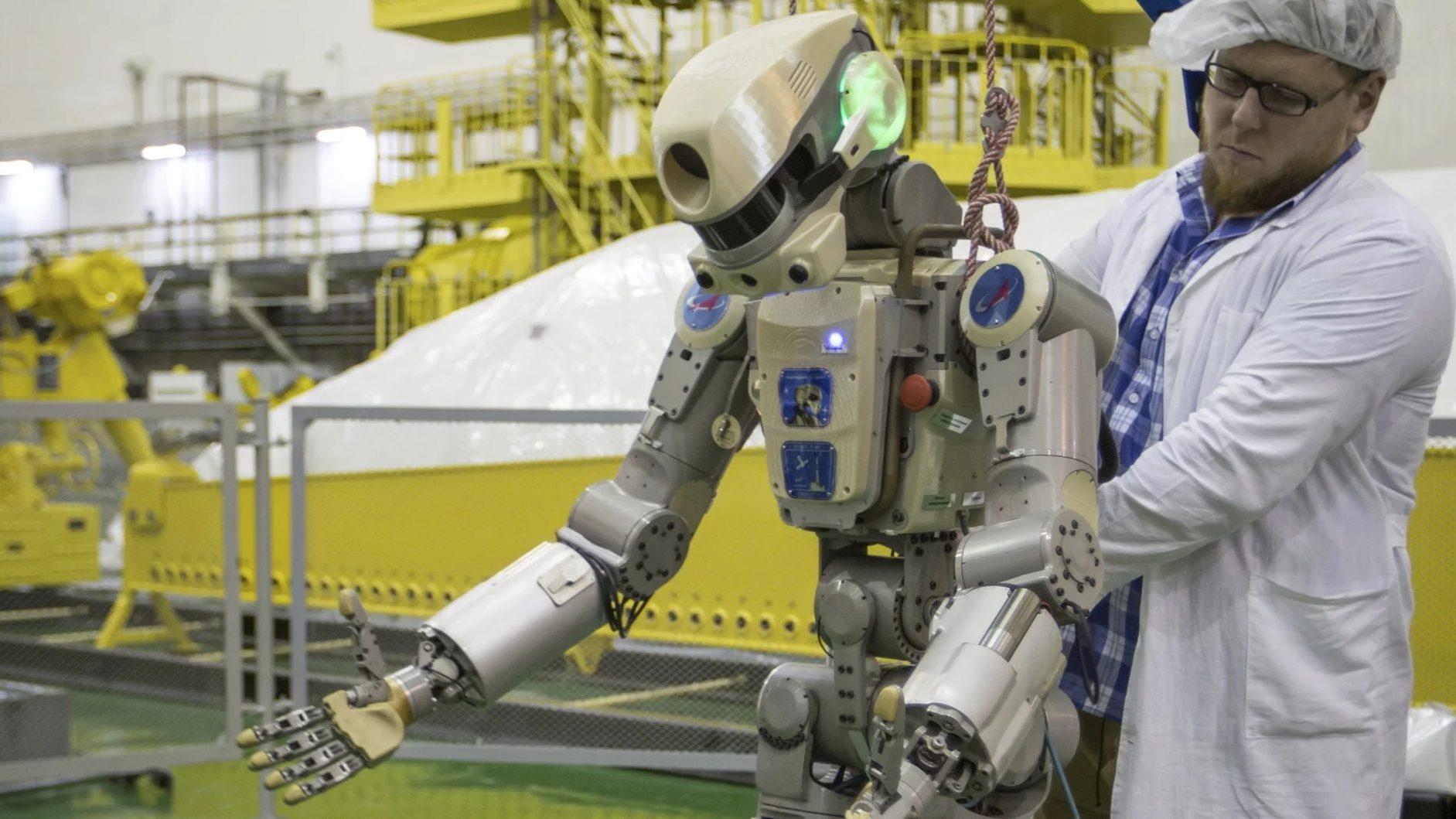 Rusia lanzó al espacio su primer robot rescatista