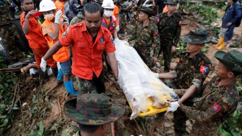 (Video) Lluvias torrenciales en Myanmar dejan medio centenar de muertos
