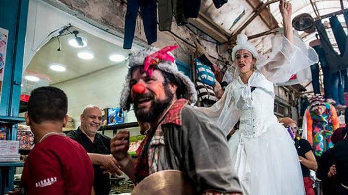 """Payasos hicieron de la risa un """"arma"""" contra la ocupación de Palestina"""