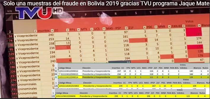 """Expertos"" manipulan actas para cantar ""fraude"" electoral en Bolivia"