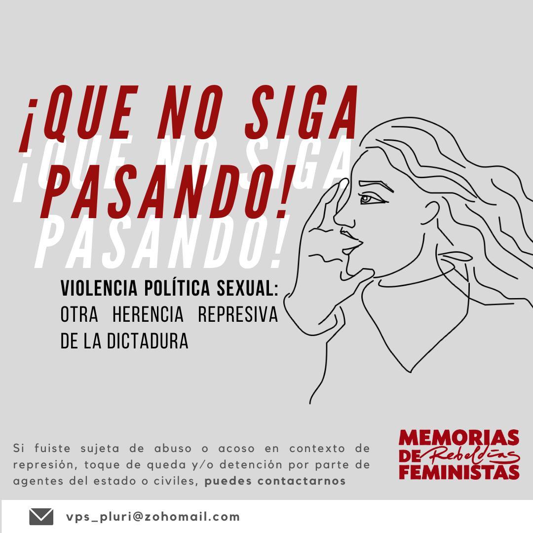 Protesta nacional: Campaña llama a denunciar la violencia política sexual ejercida por agentes del Estado