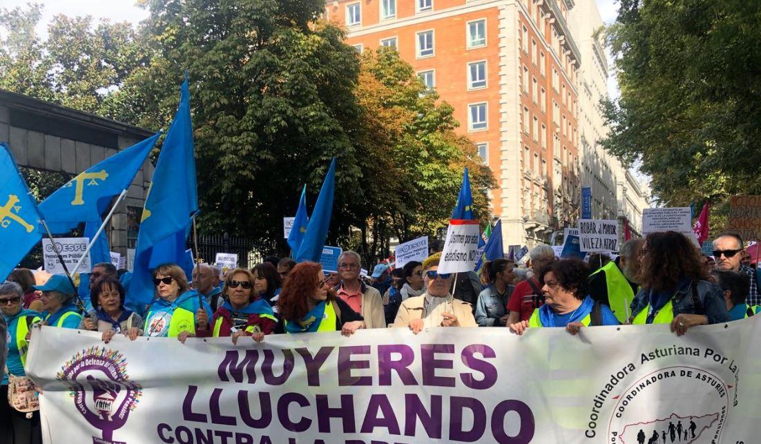 Jubilados tomaron las calles de España para exigir pensiones dignas