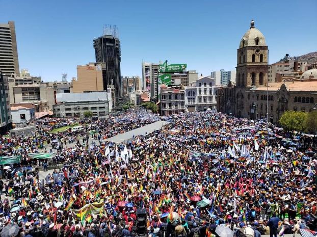(Fotos) Bolivianos se concentraron en La Paz para respaldar la reelección de Evo Morales