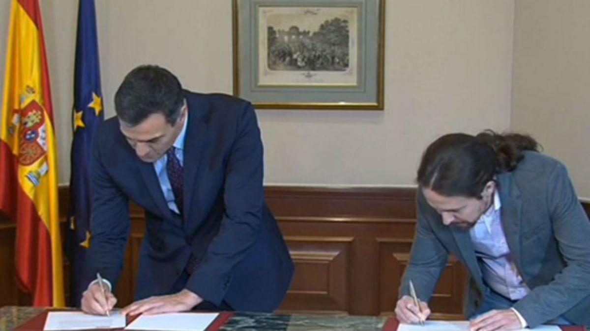 ¡Al fin! Por primera vez el PSOE y Podemos acuerdan un Gobierno de coalición en España