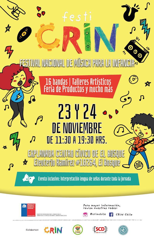 FestiCRIN tendrá una lluvia de artistas infantiles en su quinta edición