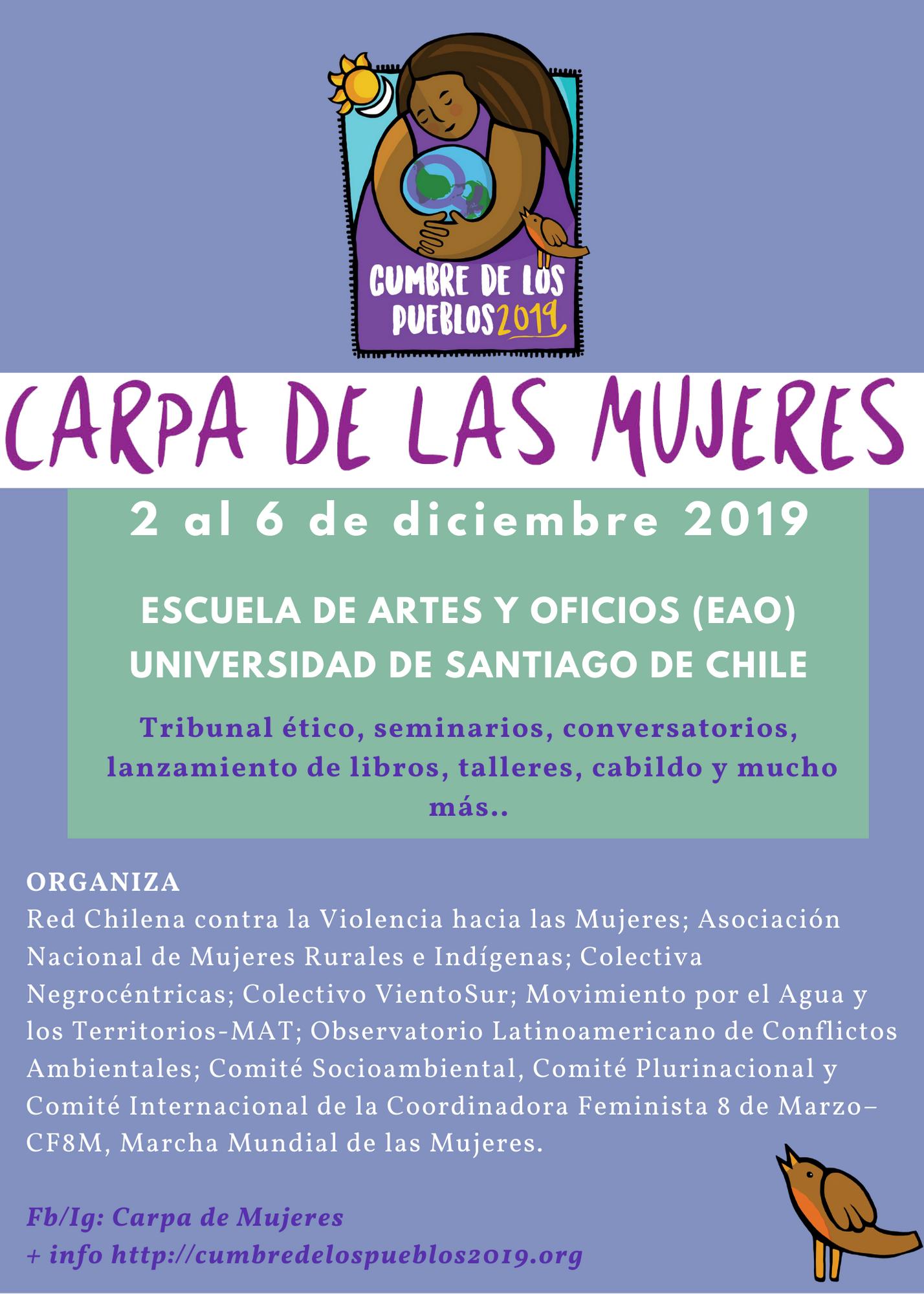 """Lanzan  """"Carpa de las Mujeres"""" para denunciar precarización de la vida de las mujeres y sus comunidades"""