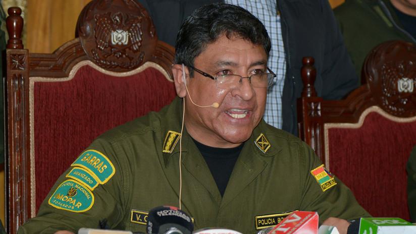 (Video) Renuncia comandante de la policía de Bolivia